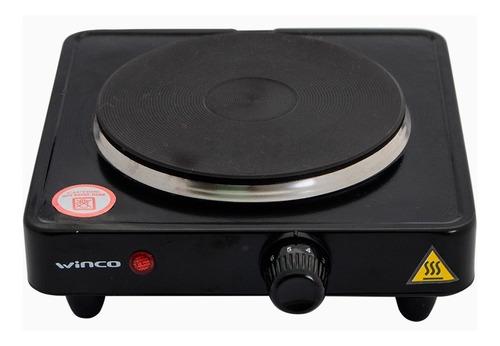 Imagen 1 de 3 de Anafe eléctrico Winco W40 negro 220V