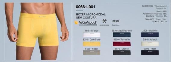 Kit C/5 Cueca Boxer Lupo Micromodal S/costura 661 C/nf