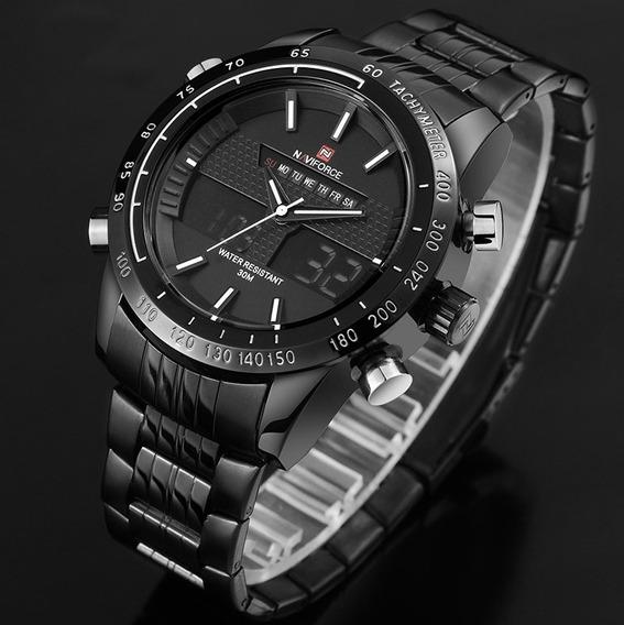 Relógio Masculino Digital Analógico Cronógrafo Original **pronta Entrega**- Nf9024b