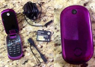 Aparelho Celular Motorola U9 Roxo Desbloqueado Para Reparo