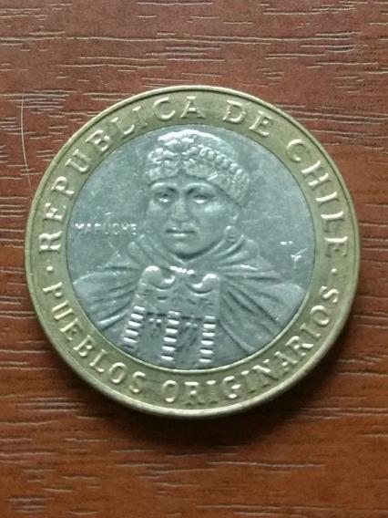 100 Pesos Chilenos 2015 Pueblos Originarios Mapuche Chile