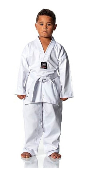 Dobok Taekwondo Infantil Brim Algodao Kimono + Faixa Branca