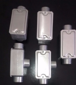 Condulete Lr T Ll Lb Tb E C Aluminio Rosca 3/4 20 Unid