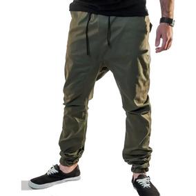 Calça Jogger Masculina Sarja Com Elastano Verde Vcstilo
