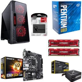 Pc Lumia Pentium G5400 B360m Ds3h Bl 16gb Vs400 Ssd 120gb