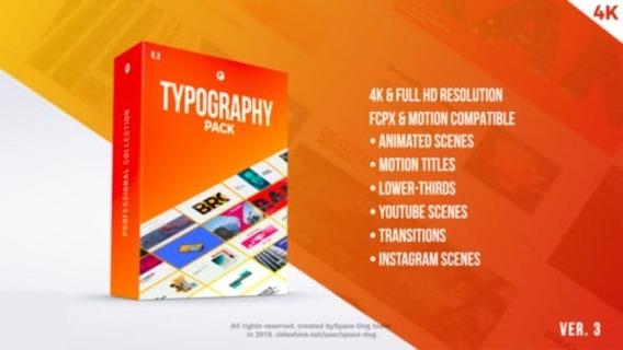 Pack Tipográfico Titulos Animado Final Cut Pro X