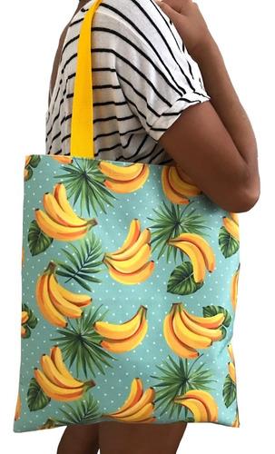 10 Bolsas Lonão Algodão Estampa Banana