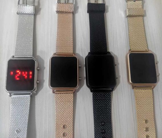 Kit Com 10 Relógios Digital Touch Quadrado Atacado Revenda