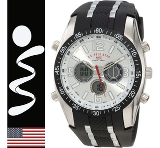 Reloj U.s Polo Assn Analogo Digital Us9061 Cronometro Alarma