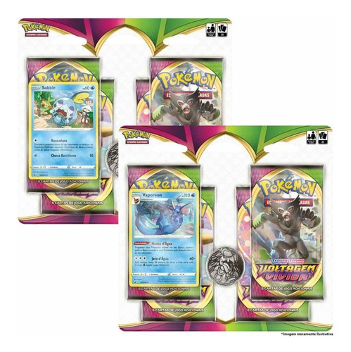 2 Blister Quádruplo Pokémon Tcg - Copag