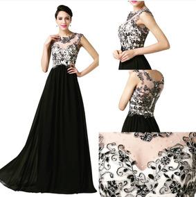 a8fa8c23e Vestidos De Gala Mujer Largos Negros - Vestidos en Mercado Libre ...