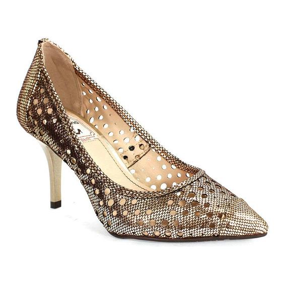 Sapato Feminino Dot Champagne Miucha Bronze 8287