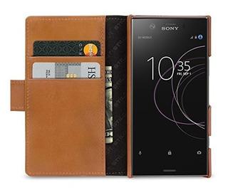 Stilgut Walletcase Con Ranuras Para Sony Xperia Xz1 Compacto