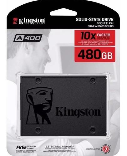 Imagen 1 de 1 de Disco Solido 480gb Kingston A400 Ssd 550mbps 2.5 Mallweb 4