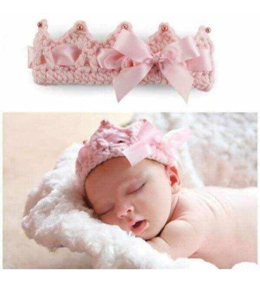 Corona De Bebé Tejido Crochet