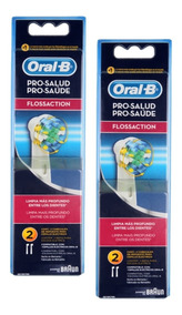 Refil Escova Elétrica Oral-b Floss Action Com 4 Unidades