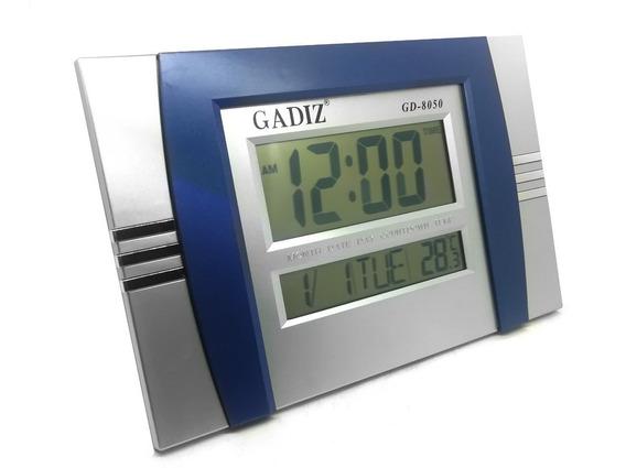 Reloj Digital De Pared/buro Con Alarma Fechador Temperatura