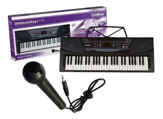 Teclado Profissional Waldman Uk-540 51 Teclas + Microfone