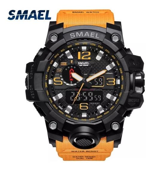 2 Relógios Masculino Smael 1545 Shock Tático Original