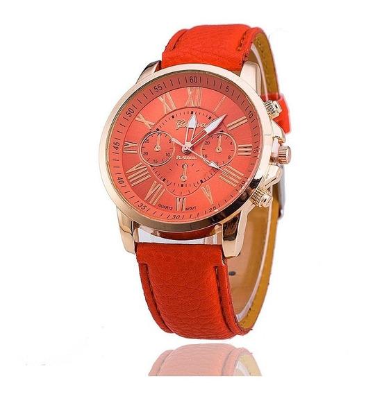 Relógio Feminino Geneva Laranja - Promoção