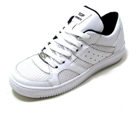 Tenis Botinhas Sneakers Masculino Feminino Em Couro Academia