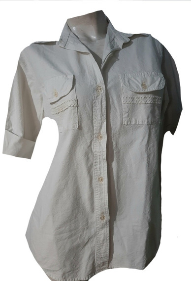 Camisa De Lienzo-mujer Talle M,l