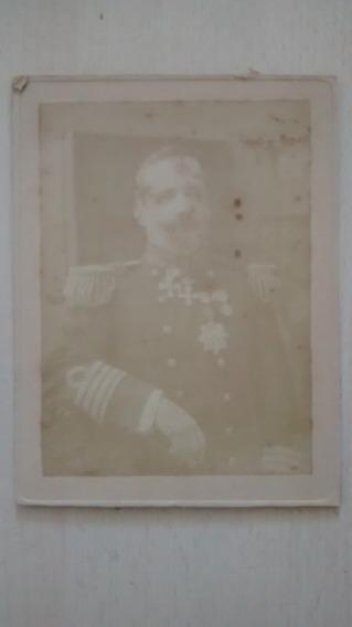 Foto Albumina De Militar Con Uniforme Y Condecoraciones