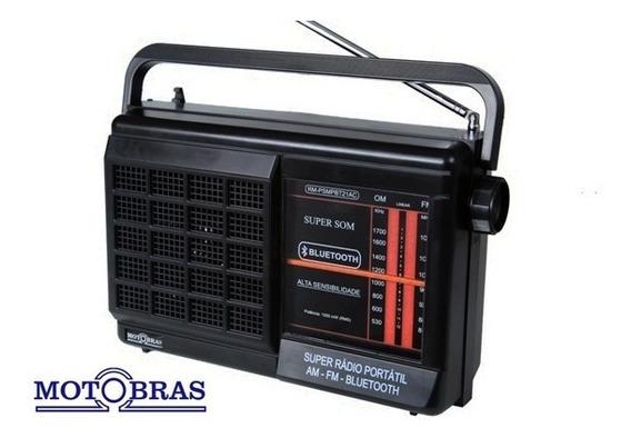 Rádio Portátil - 2 Faixas C/ Bluetooth Am/fm - Motobras