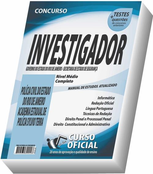 Apostila Pc-rj -polícia Civil Do Rio De Janeiro Investigador