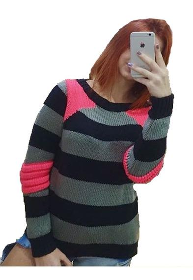 Blusa Casaco Feminina Trico Croche Outono Inverno Frio