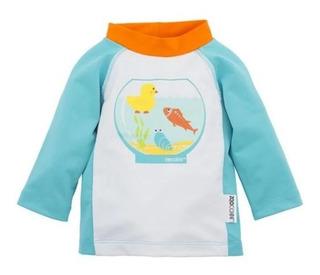Camiseta Con Filtro Uv 50+! Zoocchini! Diseño Peces!