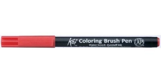 Caneta Pincel Koi Coloring Brush Pen Escarlate Xbr18-pb Miwa