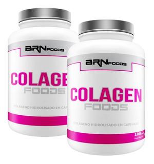 2x Colágeno Hidrolisado - 100 Capsulas - Brn Foods