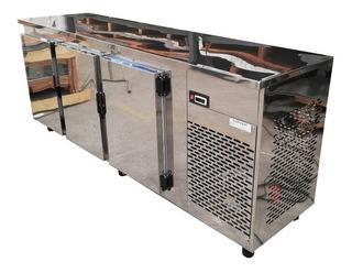 Heladera Mostrador Para 4 Barriles De Cerveza 3 Puertas