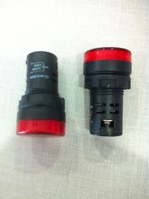 Sinaleiro Vermelho Led 22mm 220v Kit C/25pçs Sdm
