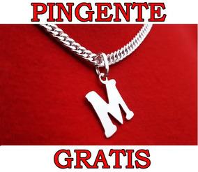 Corrente Cordão Italiana Groumet Duplos + Pingente. Original
