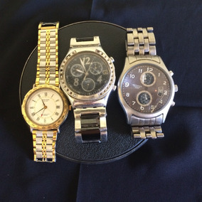 Lote 3 Relógios De Pulso Masculino Swatch-technos-junction