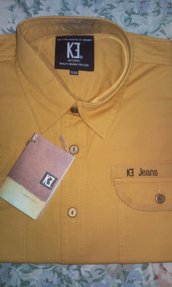 Camisa Ke Jeans Caballeros 100 % Original,,xl