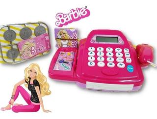 Caja Registradora Barbie Con Accesorios Luz Y Sonido