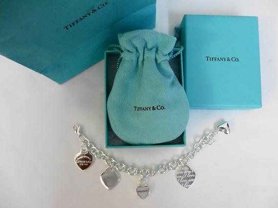 Pulsera Tiffany & Co. Plata Esterlina Corazones.