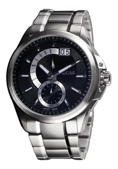 Relógio Jaguar J01mbss01 P1sx Mostrador Preto Pulseira Prata