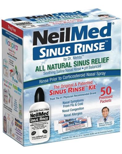 Imagen 1 de 3 de Neilmed Sinus Rinse - Kit Completo De Enjuague Nasal X50