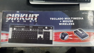 Combo Teclado Y Mouse Wireless Cirkuit Planet Crazy Machine