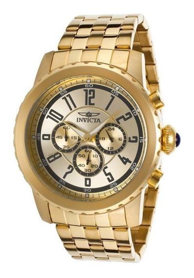 Relógio Invicta Specialty Swiss Banhado Ouro Frete Grátis
