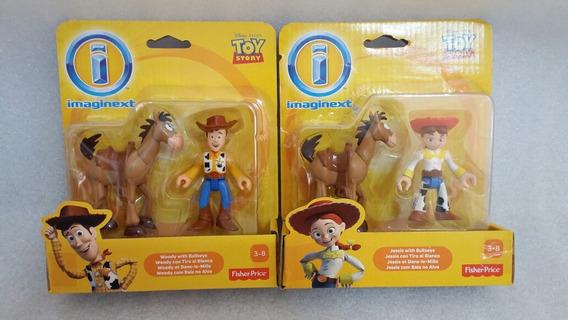 2 Imaginext Toy Story Wood E Jessie + Bala No Alvo