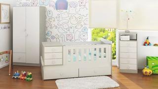 Juego Dormitorios Infantiles Bebes Combos Muebles Sed+