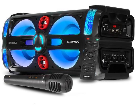 Caixa Som Grande E Grave Potente Bluetooth 180w Com Controle