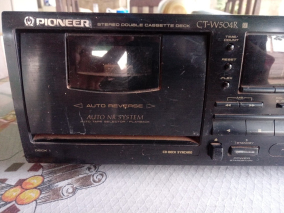 Pioneer Ct-w504r Stereo Double Cassette Deck