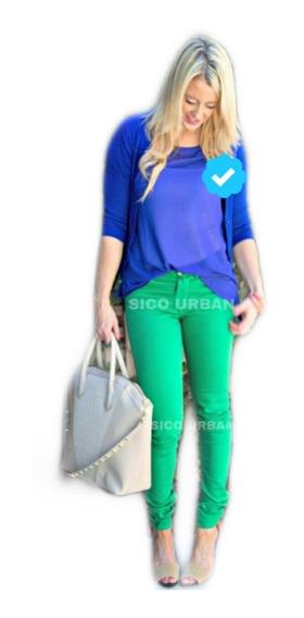 Pack X3 Pantalon Bengalina Mujer Chupin Super Elastizado Top