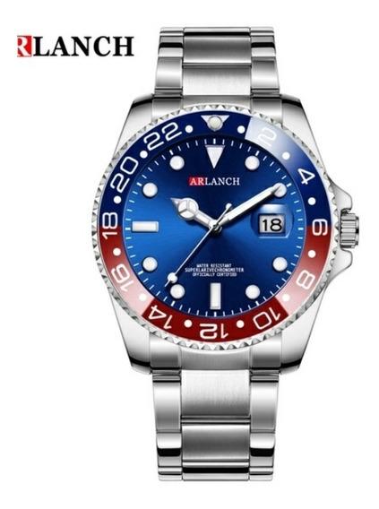 Relógio Masculino Arlanch Barato Tipo Rolex Submarino Novo